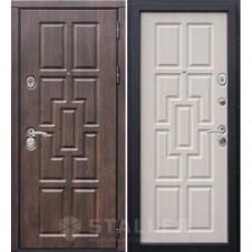 Входная дверь Сталлер Квадро, орех темный