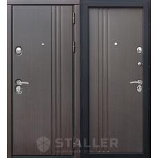 Входная дверь Сталлер Лайн Экошпон (цвет венге темный)