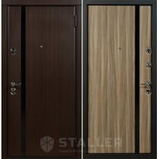 Входная дверь Сталлер Модерно Экошпон (цвет венге темный)