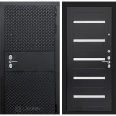 Входная дверь Лабиринт BLACK - 01 - Венге, стекло белое