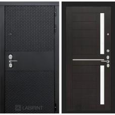 Входная дверь Лабиринт BLACK - 02 - Венге, стекло белое