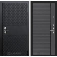Входная дверь Лабиринт BLACK - 22 - Графит софт (черная вставка)