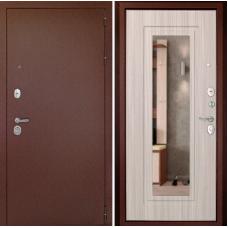 Входная дверь Дверной континент Рубикон-1 Зеркало Сандал белый