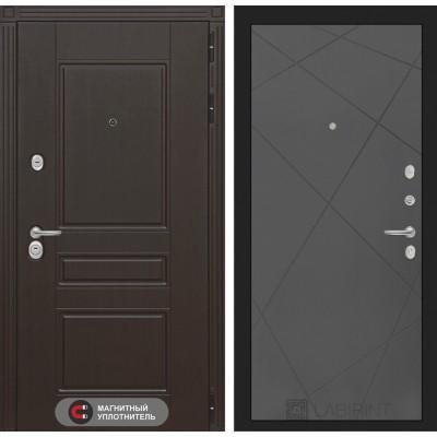 Входная дверь Лабиринт Мегаполис 24 - Графит софт