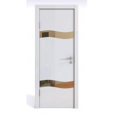 Модерн, цвет: DO-503 (Белый глянец, зеркало бронза)
