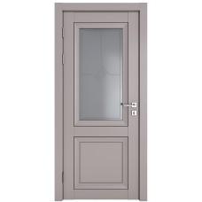 Классические двери, цвет: DO-DEKANTO (Серый бархат, стекло)