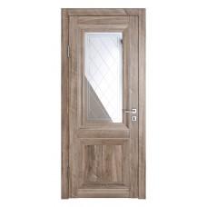Классические двери, цвет: DO-PG-2 (Орех седой светлый, зеркало ромб фацет)