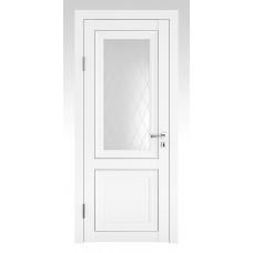 Классические двери, цвет: DO-PG-2 (Белый бархат, стекло ромб)
