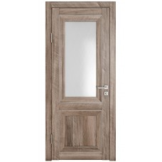 Классические двери, цвет: DO-PG-2 (Орех седой светлый, стекло ромб)