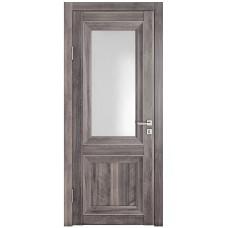Классические двери, цвет: DO-PG-2 (Орех седой темный, стекло ромб)