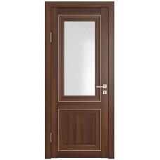 Классические двери, цвет: DO-PG-2 (Орех тисненый, стекло ромб)
