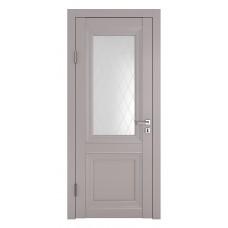 Классические двери, цвет: DO-PG-2 (Серый бархат, стекло ромб)