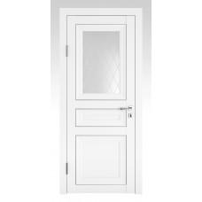 Классические двери, цвет: DO-PG-4 (Белый бархат, стекло ромб)