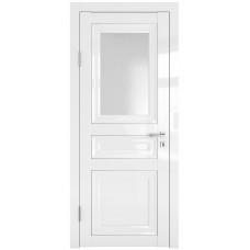 Классические двери, цвет: DO-PG-4 (Белый глянец, стекло ромб)