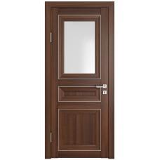 Классические двери, цвет: DO-PG-4 (Орех тисненый, стекло ромб)