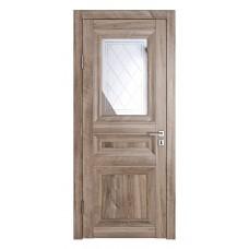 Классические двери, цвет: DO-PG-4 (Орех седой светлый, зеркало ромб фацет)