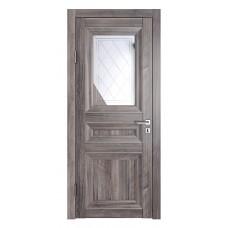 Классические двери, цвет: DO-PG-4 (Орех седой темный, зеркало ромб фацет)