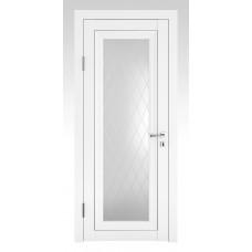 Классические двери, цвет: DO-PG-6 (Белый бархат, стекло ромб)