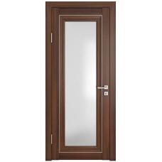 Классические двери, цвет: DO-PG-6 (Орех тисненый, стекло ромб)