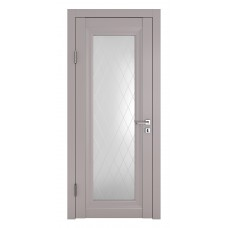 Классические двери, цвет: DO-PG-6 (Серый бархат, стекло ромб)