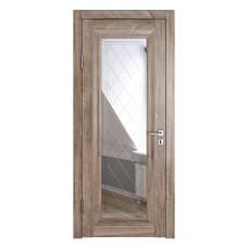 Классические двери, цвет: DO-PG-6 (Орех седой светлый, зеркало ромб фацет)