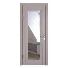 Классические двери, цвет: DO-PG-6 (Серый бархат, зеркало ромб фацет)
