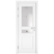 Классические двери, цвет: DO-SOFIA (Белый бархат, стекло)