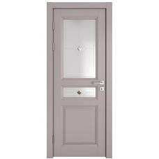 Классические двери, цвет: DO-SOFIA (Серый бархат, стекло)