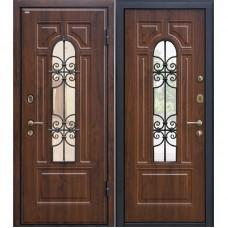 Входная металлическая дверь МеталЮр М30 (Тёмный орех)