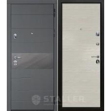Входная металлическая дверь Сталлер Натта, дуб скай беленый