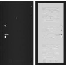 Входная дверь Лабиринт CLASSIC шагрень черная 06 - Белое дерево