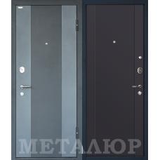 Входная металлическая дверь МеталЮр М27 (Черный бархат / Антрацит)