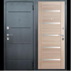 Входная металлическая дверь Техносталь Т7 (Чёрное серебро / Капучино)