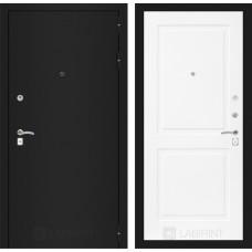Входная дверь Лабиринт CLASSIC шагрень черная 11 - Белый софт