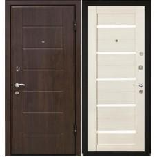 Входная металлическая дверь МеталЮр М7 (Венге / Эшвайт мелинга)