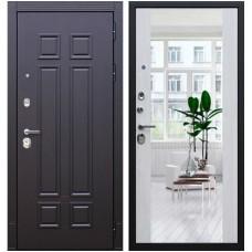 Входная стальная дверь АСД Виват с зеркалом Сосна белая
