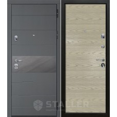Входная металлическая дверь Сталлер Натта, дуб скай крем