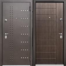 Двери Бульдорс NEW 44 Черный шелк R-14 / Ларче Темный N-9