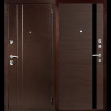 Входная металлическая дверь Техносталь Т6 (Антик медь / Венге)