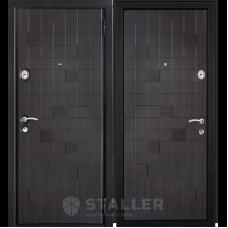 Входная металлическая дверь Сталлер Метро (Венге черно-серый)
