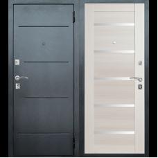 Входная металлическая дверь Техносталь Т7 (Чёрное серебро / Эшвайт)
