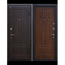 Входная металлическая дверь МеталЮр М5 (Венге / Тёмный орех)