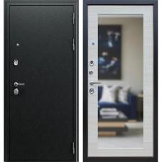 Входная стальная дверь АСД Next 1 Акация светлая поперечная с зеркалом