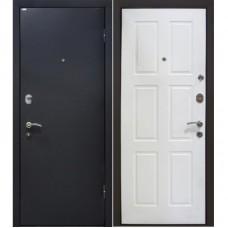 Входная металлическая дверь МеталЮр М21 (Чёрный бархат / Белая)