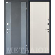 Входная металлическая дверь МеталЮр М27 (Черный бархат / Магнолия сатинат)