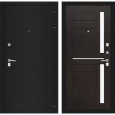 Входная дверь Лабиринт CLASSIC шагрень черная 02 - Венге
