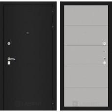 Входная дверь Лабиринт CLASSIC шагрень черная 13 - Грей soft