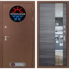 Входная дверь Лабиринт Термо Магнит с Зеркалом - Сандал серый горизонтальный