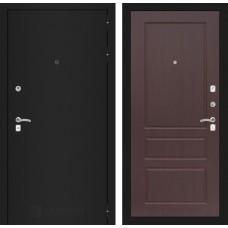 Входная дверь Лабиринт CLASSIC шагрень черная 03 - Орех премиум