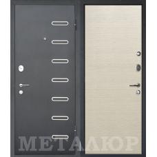 Входная металлическая дверь МеталЮр М29 (Черный бархат / Дуб французский капучино)